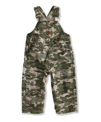 Light Green Camouflage Ripstop Overalls - Infant & Toddler