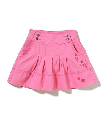 Pink Pleated Skort - Girls