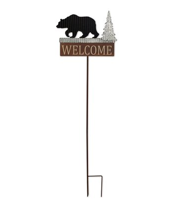 Bear 'Welcome' Garden Stake