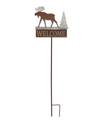 Moose 'Welcome' Garden Stake
