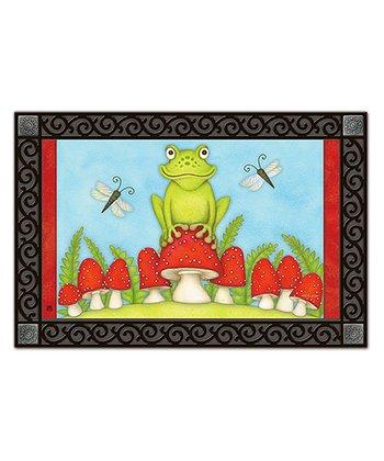Toadstool Frog MatMate Doormat/Inset