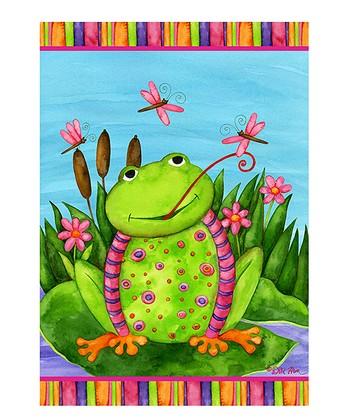 Spring Frog Garden Flag