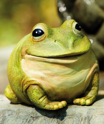Cheerful Portly Frog Figurine