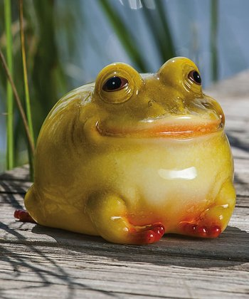 Glossy Portly Frog Figurine