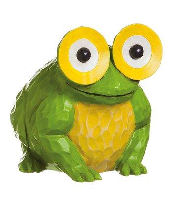 Portly Peeper Frog Figurine