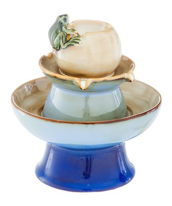 Blue Frog Tabletop Fountain