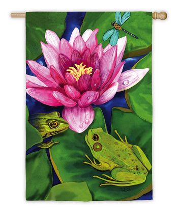 Satin Lily Garden Flag
