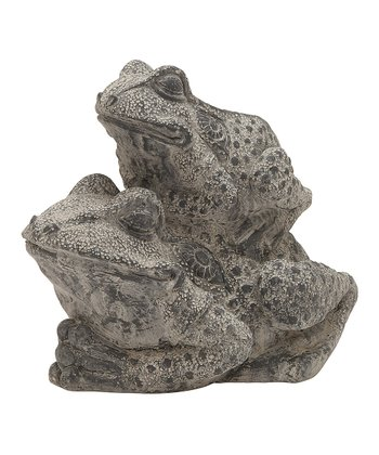 Gray Double Frog Statue