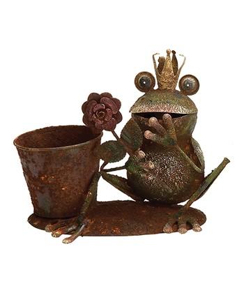Frog Prince & Flower Planter