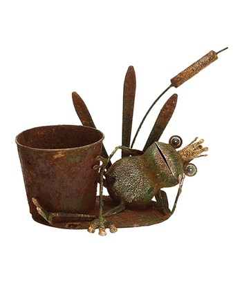 Frog Prince & Cattail Planter