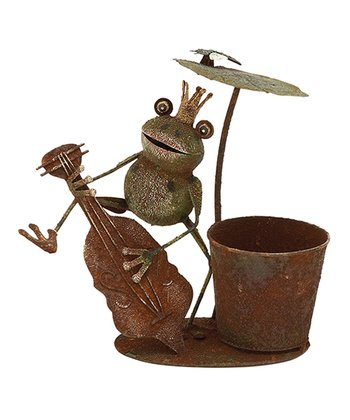 Frog Prince & Cello Planter