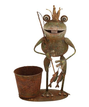 Frog Prince Fisherman Planter