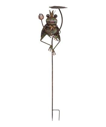 Frog Prince Garden Stake