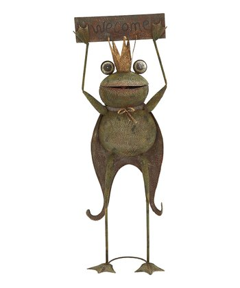'Welcome' Frog Prince Sign