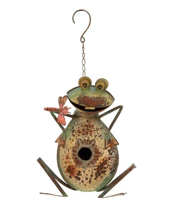 Green & Yellow Frog Bird House