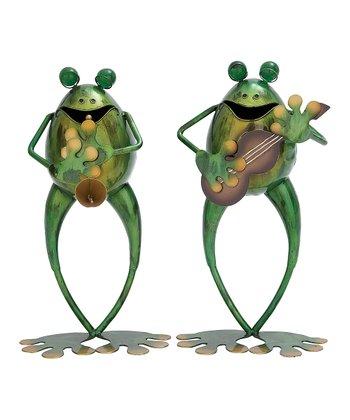 Musical Frog Statue Set