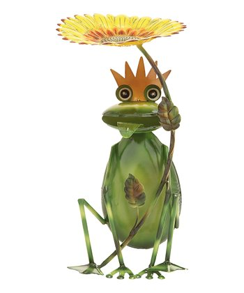 Golden Flower Frog Prince Bird Feed Stand