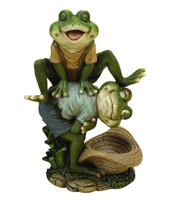 Leap Frog Garden Statue
