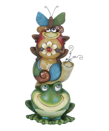 Frog & Bug Friends Garden Statue