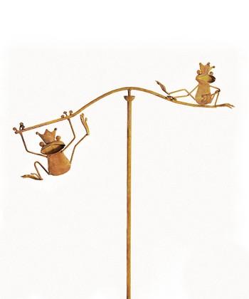 Frog Balancing Garden Stake