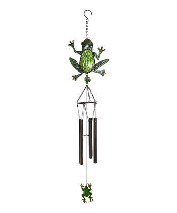 Frog Glimmer & Glass Wind Chime