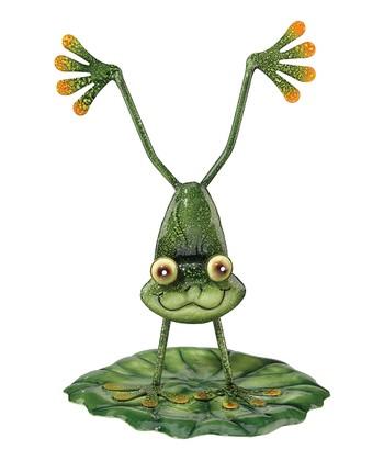 Green Handstand Frog Figure