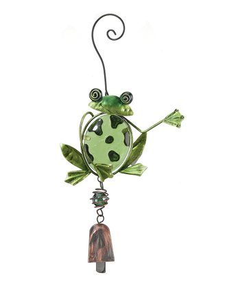 Green Frog Bell Ornament