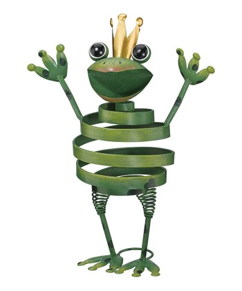 Green Spiral Frog Figure