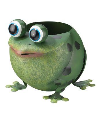 Green Frog Planter