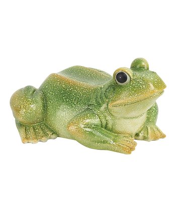 Green Terra-Cotta Frog Figurine
