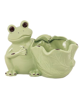 Light Green Frog Planter