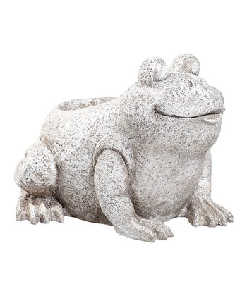 Light Stone Frog Planter