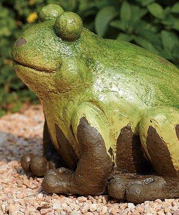 Crackle Frog Statue