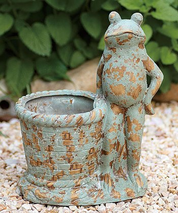 Antique Frog Planter