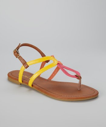 Chestnut & Yellow Caitlyn Sandal