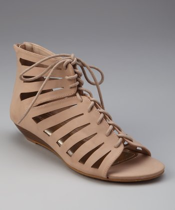 Nude Dalinda Lace-Up Sandal