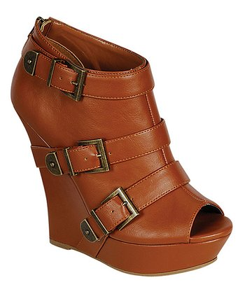 Chestnut Dreamer Peep-Toe Wedge
