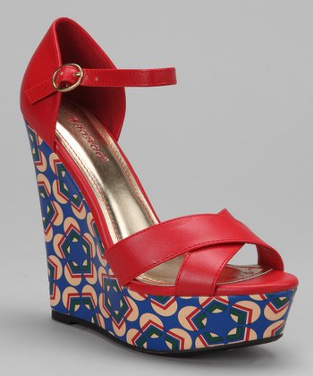 Red Eliza Sandal