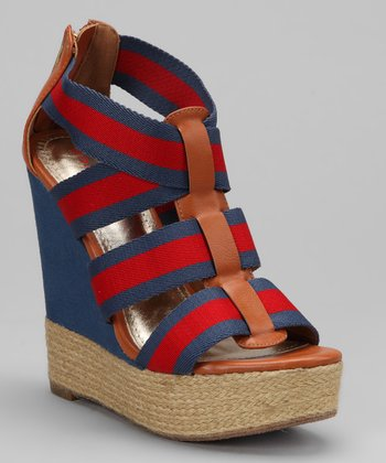 Navy & Red Energy Platform Sandal