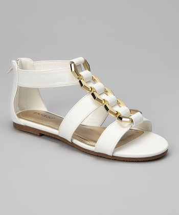 White & Gold Fenchel Sandal