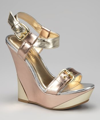Rose Gold Julianne Wedge