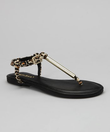Black Leopard Madalyn-09K Sandal
