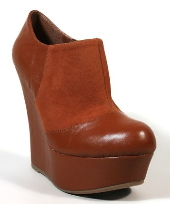 Brown Pamela-08 Wedge Bootie