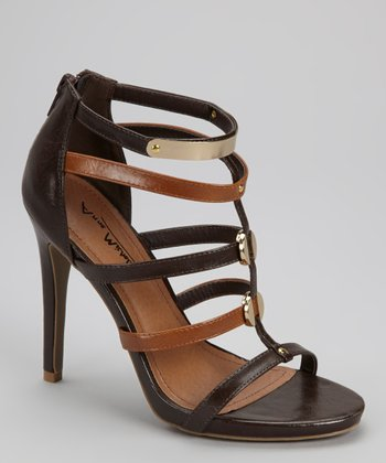 Brown & Black Pump