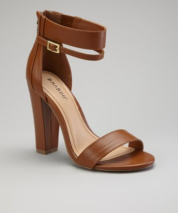 Brown Ankle Strap Senza Sandal