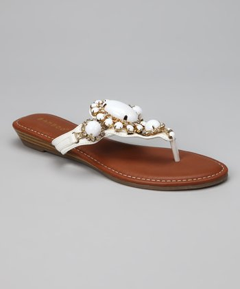 White & Gold Wonderful Sandal