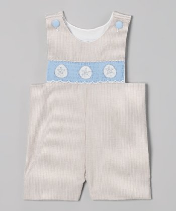 Brown Sand Dollar Smocked John Johns - Infant & Toddler