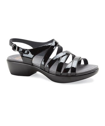 Black Patent Leather Dani Sandal - Women