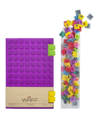 Purple WAFF Book & Cube Set