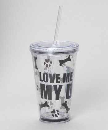 Black 'Love Me, Love My Dog' Tumbler
